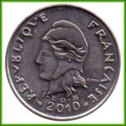 Монета > 10франков, 2006-2017 - Новая Каледония  - reverse