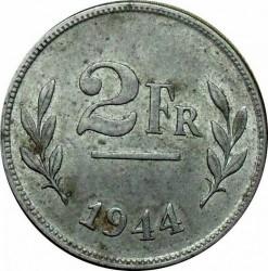 Minca > 2francs, 1944 - Belgicko  - reverse