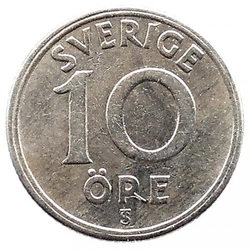 Монета sverige ore 10 50 центов 2002