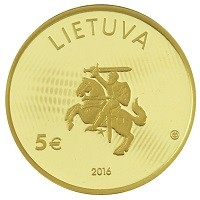 Coin > 5 euro, 2016 - Lithuania  (Lithuanian Science - Physics) - obverse