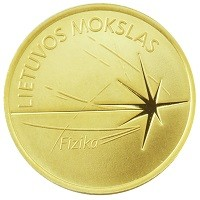 Coin > 5 euro, 2016 - Lithuania  (Lithuanian Science - Physics) - reverse