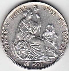 Moeda > ½sol, 1922-1935 - Peru  - obverse