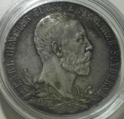 Moneta > 2marki, 1905 - Cesarstwo Niemieckie  (25 rocznica - Panowanie Karla Gonthiera /wąski rant/) - reverse
