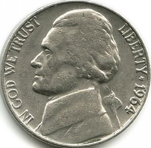 5 центов сша 1964 года цена геодезический знак купить