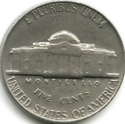 Coin > 5 cents (half dime), 1964 - USA  - reverse