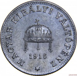 Coin > 20 filler, 1914-1922 - Hungary  - obverse