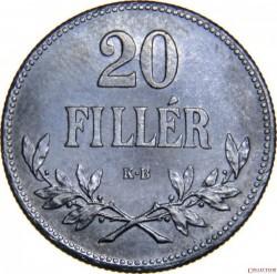 Munt > 20filler, 1914-1922 - Hongarije  - reverse