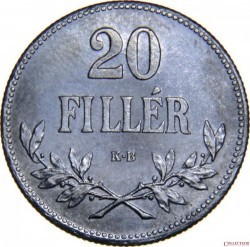 Pièce > 20fillers, 1914-1922 - Hongrie  - reverse