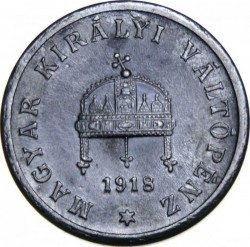 Coin > 2 filler, 1916-1918 - Hungary  - obverse