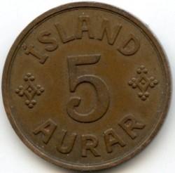 سکه > 5آورار, 1926-1942 - ایسلند  - reverse
