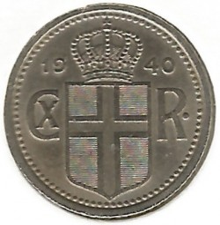 Monēta > 10unces, 1922-1940 - Islande  - reverse