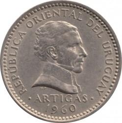 Moeda > 50centésimos, 1960 - Uruguai  - obverse