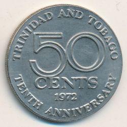 Moneta > 50centesimi, 1972 - Trinidad e Tobago  (10° anniversario dell'indipendenza) - obverse