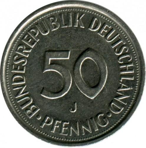 50 pfennig 1990 цена альбом для монет на павелецкой