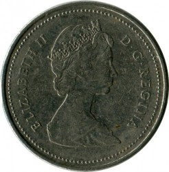 Coin > 5 cents, 1987 - Canada  - reverse