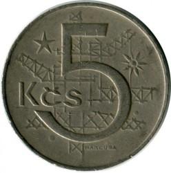 Moneda > 5korun, 1969 - Txecoslovàquia  - obverse