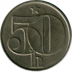 Moneda > 50hellers, 1990 - Checoslovaquia  - obverse