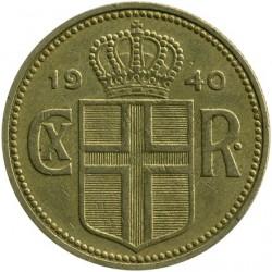 Coin > 2kronur, 1925-1940 - Iceland  - obverse