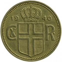 Coin > 2kronur, 1925-1940 - Iceland  - reverse