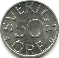 Moneta > 50ore, 1976-1991 - Szwecja  - reverse