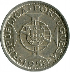 Moneta > 5pataca, 1952 - Makau  - reverse