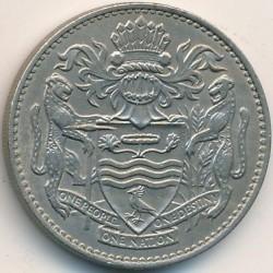 Монета > 50центів, 1967 - Гайана  - obverse