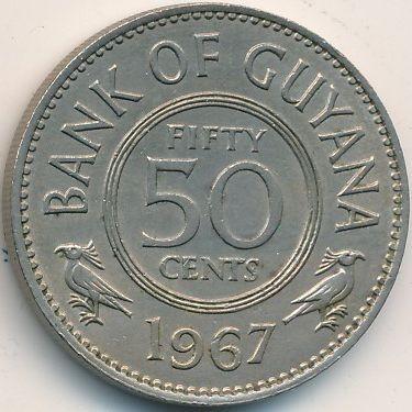 50 Cent 1967 Guyana Münzen Wert Ucoinnet