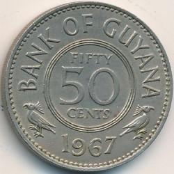 Монета > 50центів, 1967 - Гайана  - reverse