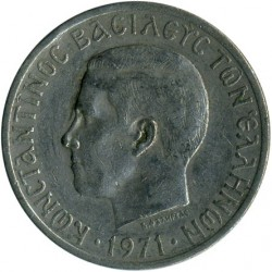Moneta > 5 drachmos, 1971-1973 - Graikija  - obverse