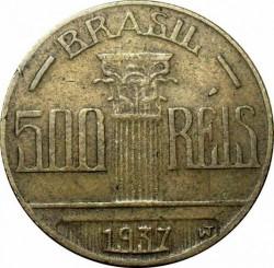 Moneda > 500réis, 1936-1938 - Brasil  - reverse