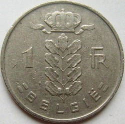 Coin > 1 franc, 1958 - Belgium  (Legend in Dutch - 'BELGIE') - obverse