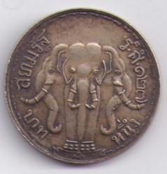 Coin > 1baht, 1908 - Thailand  - reverse