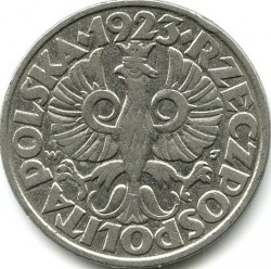 Coin > 50groszy, 1923 - Poland  - obverse