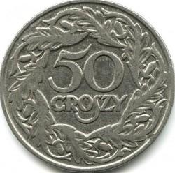 Coin > 50groszy, 1923 - Poland  - reverse