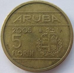 Монета > 5флоринов, 2005-2013 - Аруба  - obverse