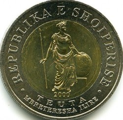 Moneda > 100lekë, 2000 - Albania  - obverse