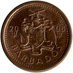 سکه > 1سنت, 2008-2012 - باربادوس  - obverse