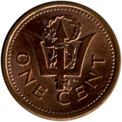 Монета > 1цент, 2008-2012 - Барбадос  - obverse