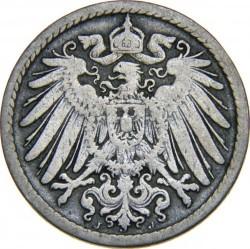 Moneda > 5pfennig, 1890-1915 - Alemanya  - obverse