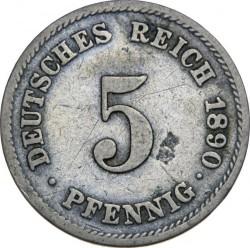 Moneda > 5pfennig, 1890-1915 - Alemanya  - reverse