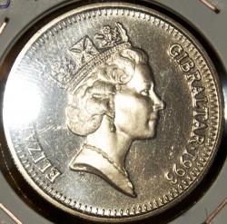 Coin > 1pound, 1993 - Gibraltar  (Referendum of 1967) - obverse