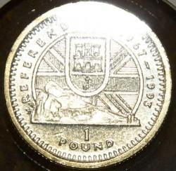 Coin > 1pound, 1993 - Gibraltar  (Referendum of 1967) - reverse