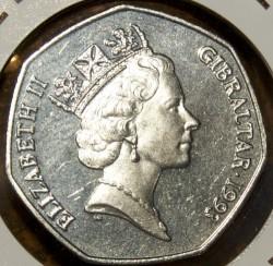 מטבע > 50פנס, 1990-1997 - גיברלטר  - obverse