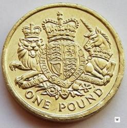 Mynt > 1pund, 2015 - Storbritannia  (Royal Coat of Arms of the UK) - reverse