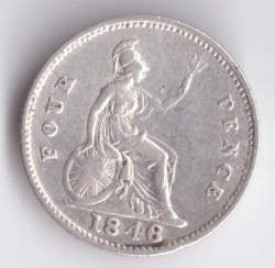 Moneta > 4pensy, 1838-1855 - Wielka Brytania  - reverse