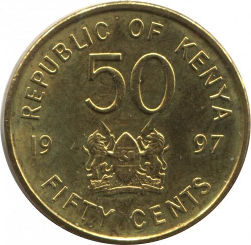 1966 50 Cents Old Kenya Coin Circulated
