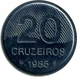 Coin > 20cruzeiros, 1985-1986 - Brazil  - obverse