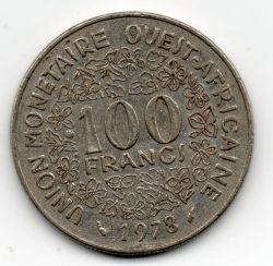 Moneda > 100francos, 1978 - África Occidental (BCEAO)  - reverse