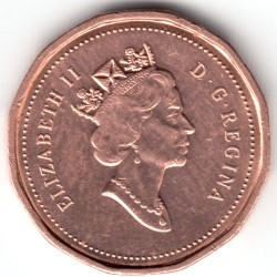 Coin > 1cent, 1990-1996 - Canada  - reverse