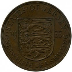 Coin > 1/12shilling, 1931-1935 - Jersey  - reverse